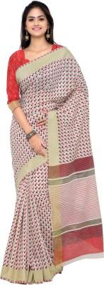 Inddus Woven Fashion Art Silk Saree(Beige) at flipkart