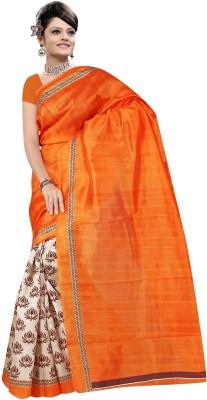 AahnaFashion Printed Fashion Art Silk Sari
