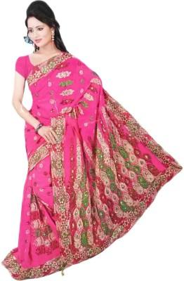 Aashi Embellished, Embriodered Fashion Chiffon Sari