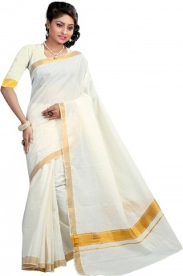 HAMZA Self Design Fashion Cotton Sari