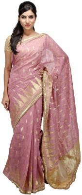 KALYANAM Floral Print Maheshwari Cotton Sari