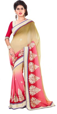 Wavelon Designer Sarees Embriodered Fashion Georgette Sari