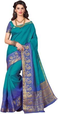 Kuberan Paisley Fashion Raw Silk Sari