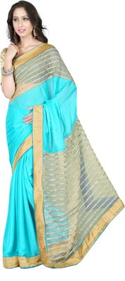 Rashmi Creation Embriodered Fashion Satin Sari
