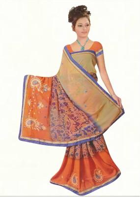 Agarwal Fashions Embriodered Fashion Georgette Sari