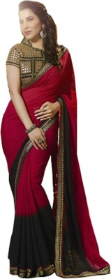 JD EXPORT Embriodered Bollywood Georgette Sari