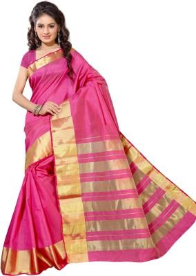 Alankrita Self Design, Woven, Plain Kanjivaram Tussar Silk, Silk, Art Silk Sari