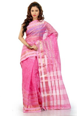 Badal Textile Solid Bollywood Handloom Cotton Sari