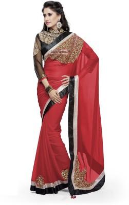 Moh Manthan Self Design Fashion Chiffon Sari