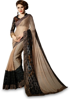 EthnicBasket Embriodered Fashion Net Sari