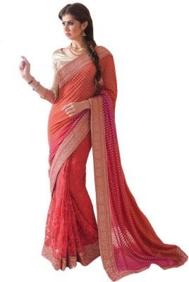 Leemboodi Embriodered Fashion Georgette Sari