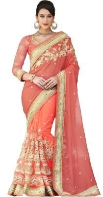 Fashion Forever Embriodered Fashion Viscose, Net Sari