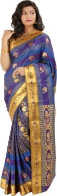 Silk Trendz Floral Print Bollywood Silk Cotton Blend Sari