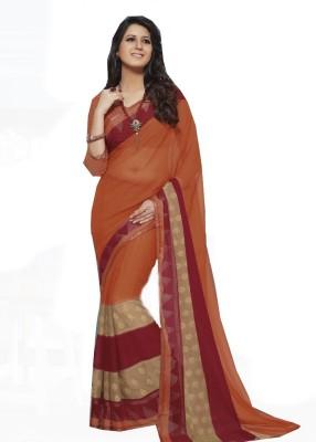 Rajhans Fashion Striped Fashion Chiffon Sari