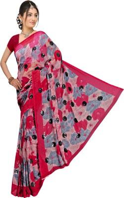 Arch Floral Print Fashion Art Silk Sari