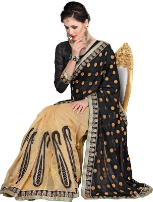 FNF Self Design Fashion Viscose, Georgette Sari