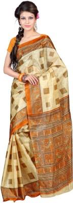 Shagun Prints Checkered Bhagalpuri Art Silk Sari