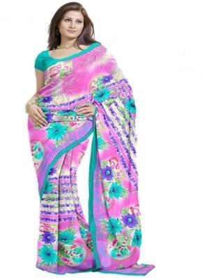 Ethnic Trend Printed Fashion Chiffon Sari