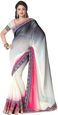 Kintu Designs Pvt. Ltd. Floral Print Fashion Georgette Sari