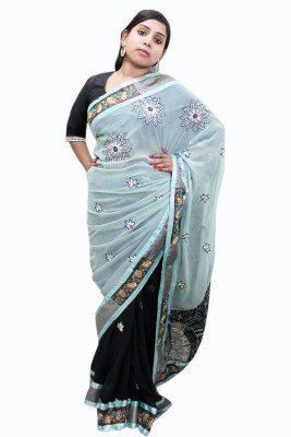Ahuja Embriodered Bollywood Handloom Georgette Sari