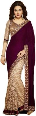SareeBazaar Embriodered Fashion Velvet Sari