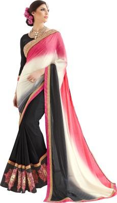 Khushali Self Design, Embriodered, Embellished Fashion Georgette, Silk, Jacquard Sari