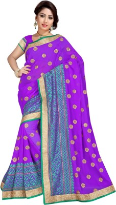 Radcart Embriodered Bollywood Chiffon Sari