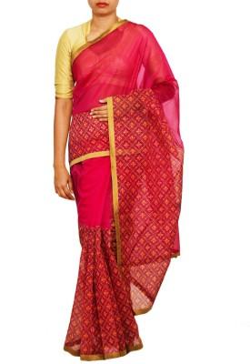 Unnati Silks Printed Banarasi Net Sari