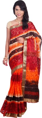 Arisidh Printed Bollywood Synthetic Fabric Sari