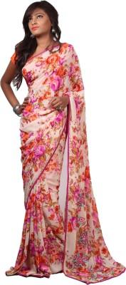Aifaa Floral Print Fashion Chiffon Sari