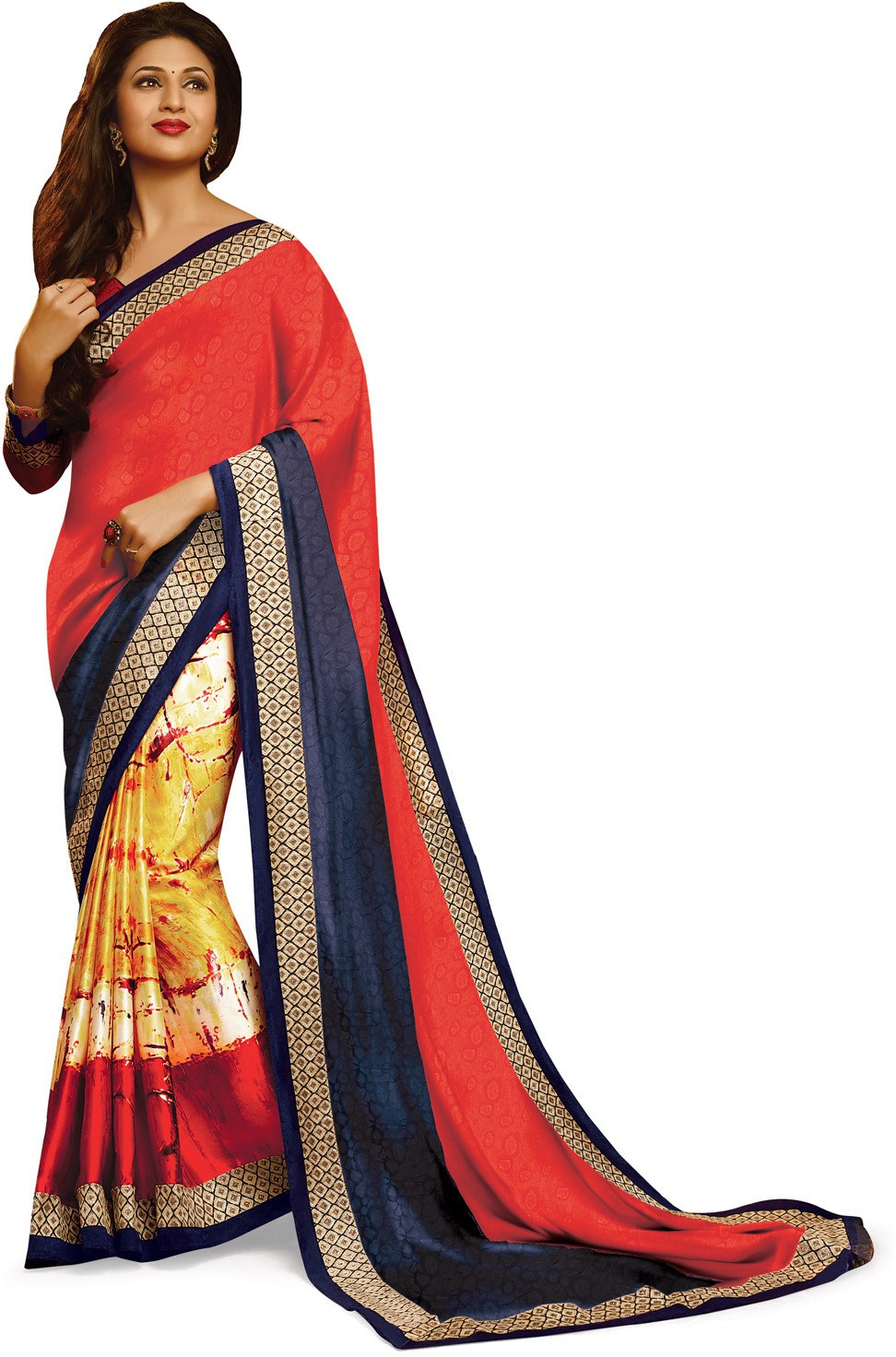Indianbeauty Self Design, Printed Bollywood Pure Georgette Saree(Multicolor)