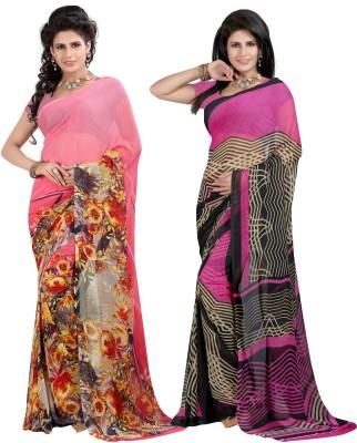 SareeShop Printed Fashion Georgette Sari