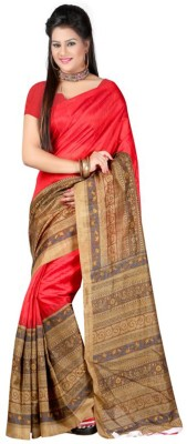 The Fancy Sarees Striped Bhagalpuri Silk Sari