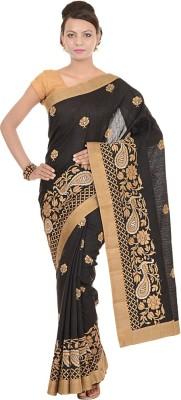 Kdc Sarees Embriodered Banarasi Tussar Silk Sari