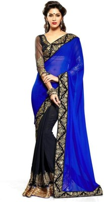 Angel De World Self Design Bollywood Handloom Georgette Sari