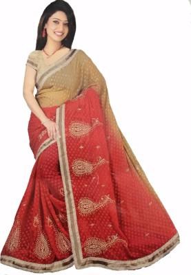 Fashion Fiasta Embriodered Fashion Synthetic Georgette Sari