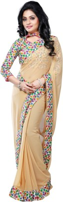 Vruticreation Self Design Bollywood Georgette Sari