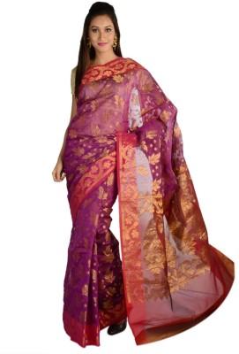 9rasa Printed Banarasi Net Sari