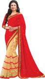 SHS Floral Print Bollywood Georgette Sar...