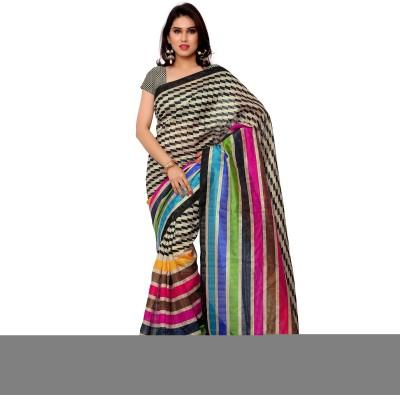 Gunjan Creation Printed Fashion Pure Georgette Sari