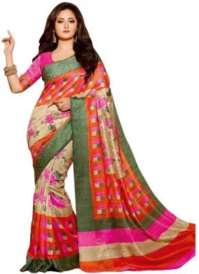 BlueGene Printed Bhagalpuri Cotton Sari