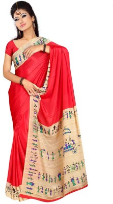 Shree Vaishnavi Printed, Self Design Bollywood Handloom Synthetic, Pure Crepe, Chiffon Sari