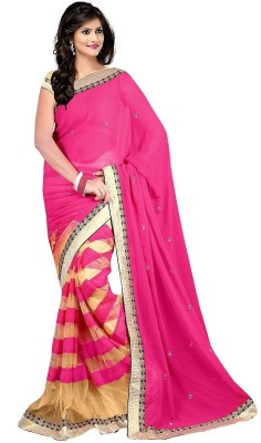 Kyara Striped Fashion Chiffon Sari
