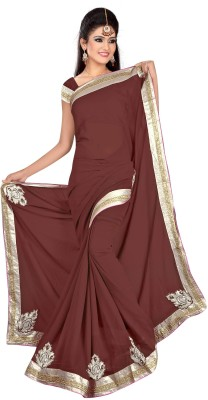 stylish sarees Embriodered Daily Wear Synthetic Sari