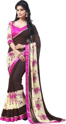 Dreambucket Solid Bollywood Georgette Sari
