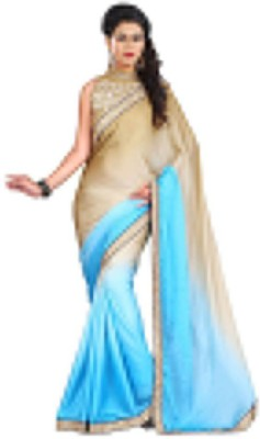 Kmozi Embriodered Fashion Satin, Chiffon Sari