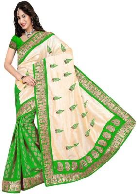 VishakhaFashions Floral Print Bhagalpuri Art Silk Sari
