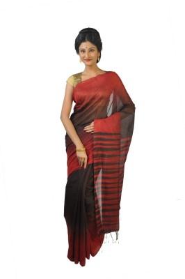 Rudrakshhh Dhakai Striped Jamdani Handloom Silk Cotton Blend Sari