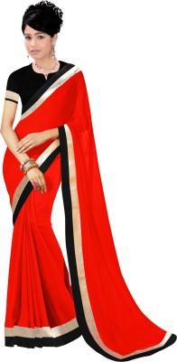 Unique fashion Plain Fashion Chiffon Sari