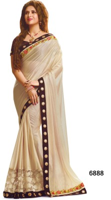 Indianbeauty Self Design, Embriodered Bollywood Georgette Sari